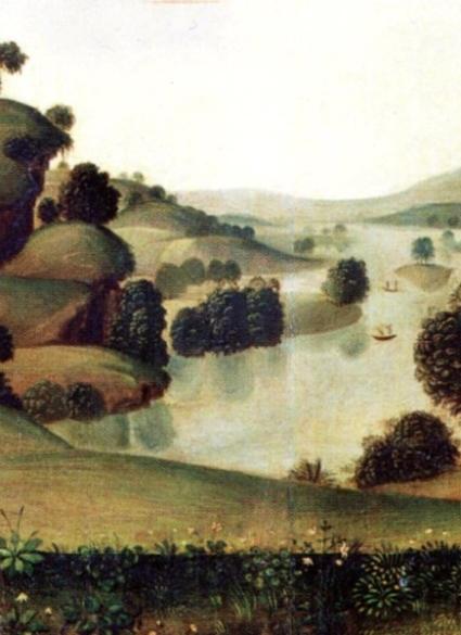 Paesaggio sullo sfondo