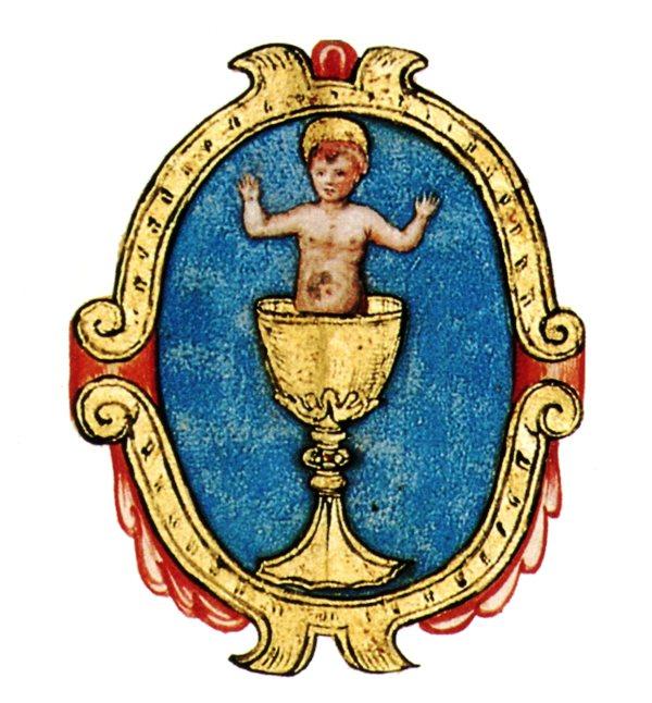 stemma della Compagnia del Santissimo Miracolo di Sant'Ambrogio