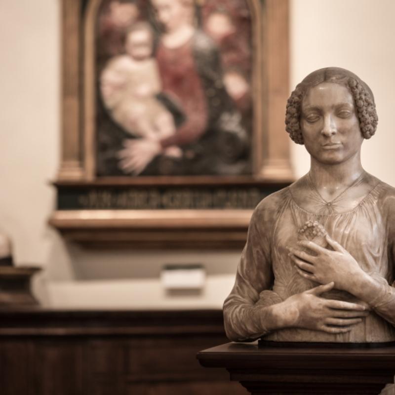 Andrea del Verrocchio, Dama col mazzolino, Firenze, Museo Nazionale del Bargello – ph. Bassmartw