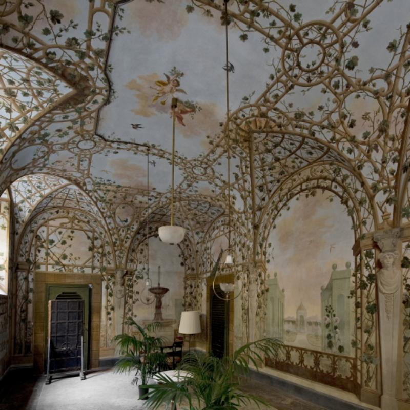 Casa Martelli, il pergolato a trompe-l'oeilw