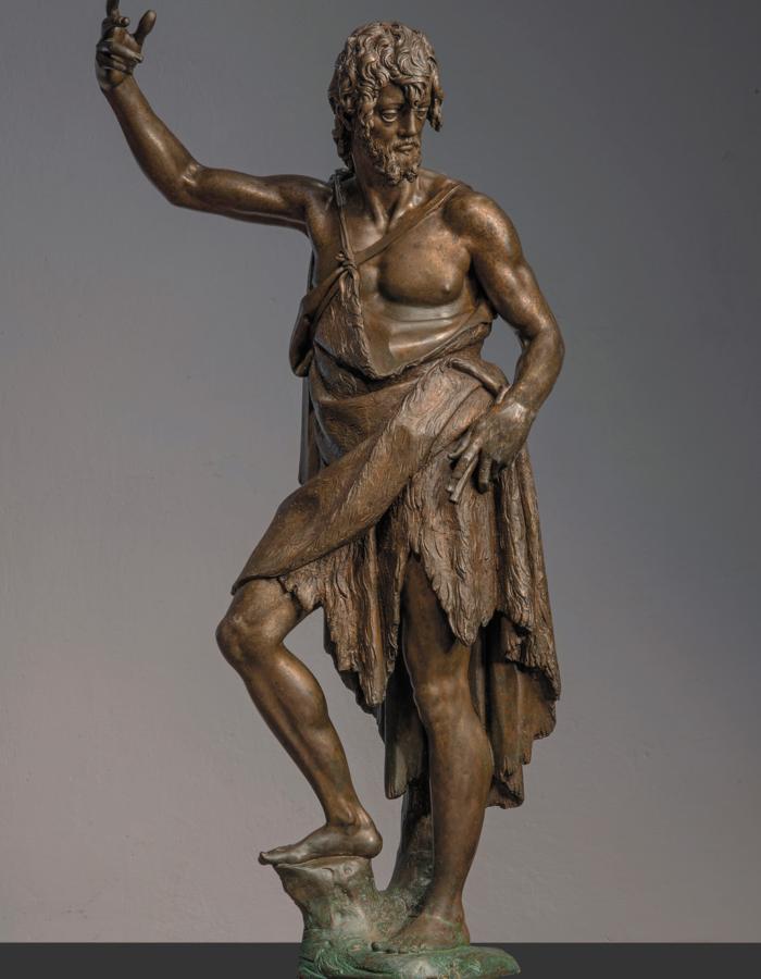 Fig. 1 Giambologna, San Giovanni Battista 1588 bronzo patinato Fondazione Conservatorio SantaMaria degli Angeli, Santa Maria degli Angiolini, Firenze