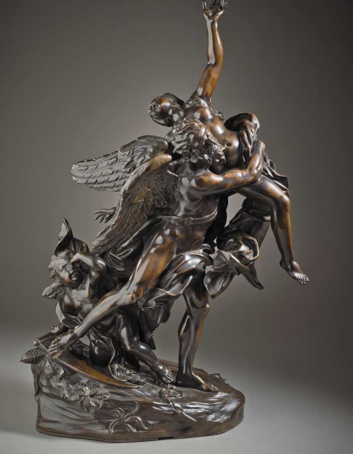 Fig. 10 Giovan Battista Foggini Il Tempo rapisce la Bellezza 1700-1720 circa bronzo patinato Los Angeles County Museum, of Art, Michael J. Connell Foundation, Los Angeles