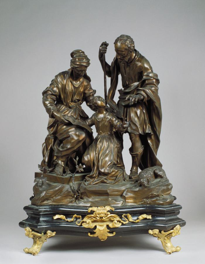 Fig. 14 Giovacchino Fortini Educazione della Vergine 1723 bronzo patinato  MuseumfürAngewandteKunst, Colonia