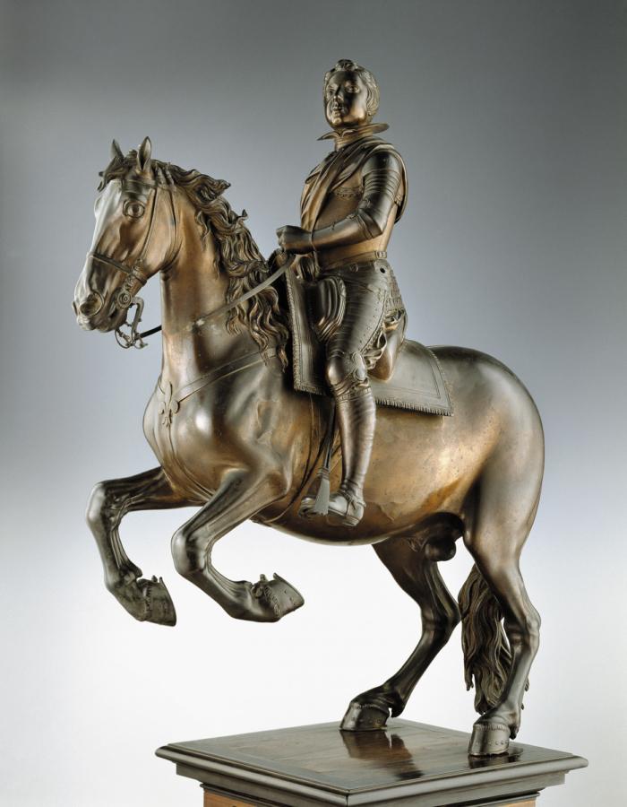 Fig. 16 Pietro Tacca Luigi XIII di Francia a cavallo 1615-1618 circa bronzo rossiccio non patinato Museo Nazionale del Bargello, Firenze