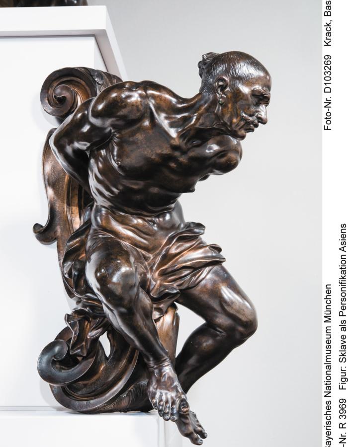 Fig. 17 b. Giovan Battista Foggini Monumento all'Imperatore Giuseppe I, Schiavo 'Moro' e Schiavo 'Tartaro' 1706 circa bronzo patinato BayerischesNationalmuseum, München