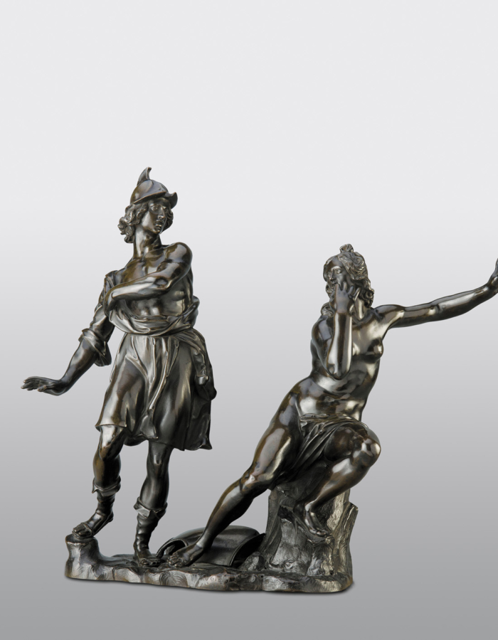 Fig. 3 Ferdinando Tacca Angelica con l'anello magico si cela a Ruggiero 1650-1660 circa bronzopatinato Musée du Louvre,Parigi