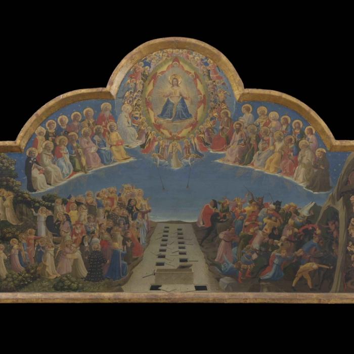 1a_Beato Angelico, Giudizio Universale, prima del restauro_s