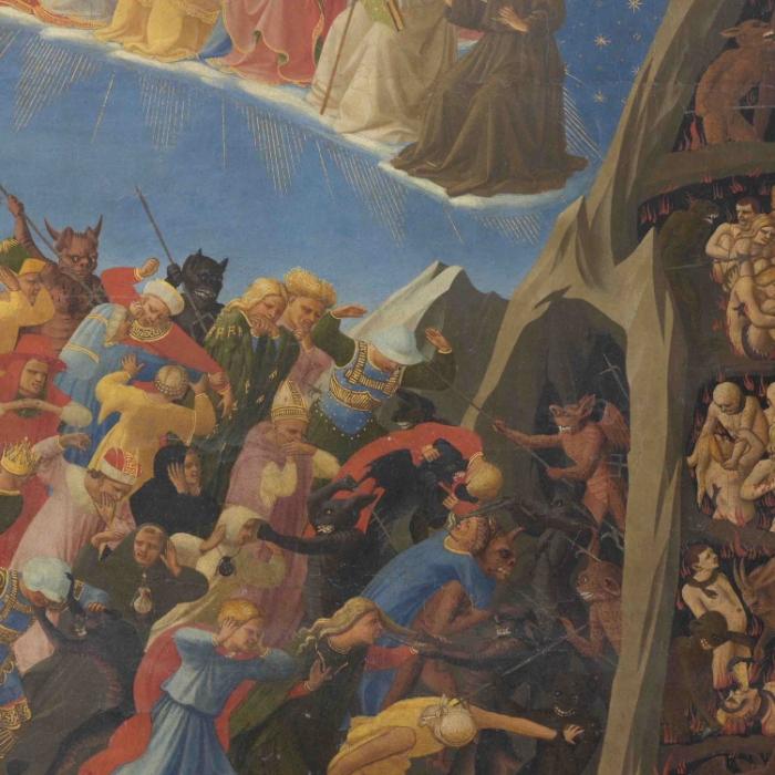 3a_Beato Angelico, Giudizio Universale, particolare prima del restauro_s