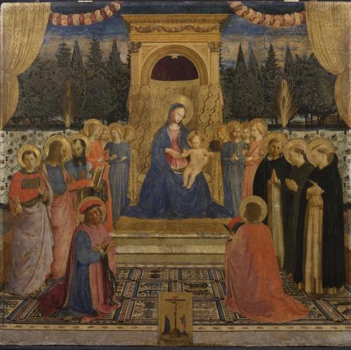 Beato Angelico, Pala di San Marco, prima del restauro